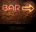 Bar Sign Royalty Free Stock Photo - 9417425