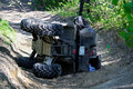 A Quad On Its Side After It Has Been Accidentally Flipped Stock Image - 94105141