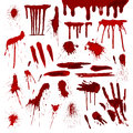 Blood Or Paint Splatters Splash Spot Red Stain Blot Patch Liquid Texture Drop Grunge Abstract Dirty Mark Vector Royalty Free Stock Photography - 94144037