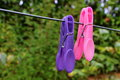 Clothes Pin On A Washing Line Stock Photos - 94146123