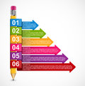 Educational Infographics Template With Pencil And Colored Arrows. Stock Photos - 94168703