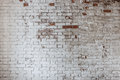 Empty Old Brick Wall Texture. Painted Distressed Wall Surface. Grungy Wide Brickwall. Royalty Free Stock Images - 94179269