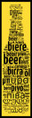 Word Beer In Different Languages Stock Photography - 94184122