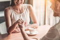 Couple In Love In Cafe Stock Photography - 94188482