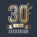30 Years Anniversary Vector Icon, Logo Royalty Free Stock Photography - 94192797