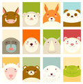 Set Of Banners With Cute Animals Royalty Free Stock Photography - 94220537