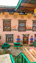 Traditional Bhutanese House With Religious Phallus Wall Paintings Royalty Free Stock Photo - 94227515
