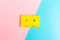 Retro Cassette Tapes On Bright Background Royalty Free Stock Images - 94243839