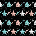 Doodle Star Seamless Background. Abstract Childish Star Pattern Royalty Free Stock Image - 94250296