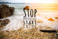 Inspirational Quote By Unknown Source On Beach Stock Photo - 94255740