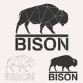Bison Logo Set Stock Photo - 94264230