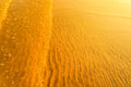 Golden Light Reflecting Off A Water Wave At The Sea And Sand On Sunset Stock Images - 94280924