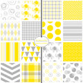 Yellow & Grey Seamless Baby Patterns Stock Photos - 94282073