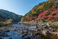 Korankei And Tomoe River In Autumn Season. Royalty Free Stock Photography - 94289797