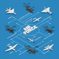 Military Air Force Isometric Flowchart Stock Image - 94312131