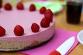 Raw Strawberry Cake Stock Photo - 94330110