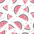 Seamless Pink Watermelons Pattern. Royalty Free Stock Photos - 94331288