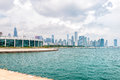Chicagos Shedd Aquarium With Lake Michigan And Skyline Royalty Free Stock Images - 94332019