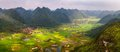 Rice Field In Valley Around With Mountain Panorama View In Bac Son Valley, Lang Son, Vietnam Stock Photography - 94338122