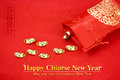 Chinese New Year Decoration: Red Fabric Packet Or Ang Pow With C Stock Images - 94348794