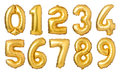 Golden Numbers Balloons Royalty Free Stock Images - 94354339
