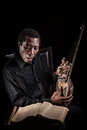 African Black Man With Ethnic Musical Instrument Stock Photo - 94356820