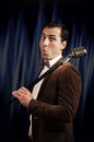 Showman With A Microphone Royalty Free Stock Photos - 94356958