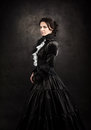 Stylized Portrait Of A Victorian Lady In Black Royalty Free Stock Images - 94356969