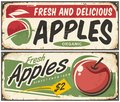 Apples Retro Signs Stock Image - 94368331