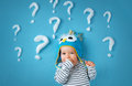 Little Boy With Lots Of Question Marks Stock Images - 94375624