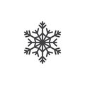 Cold Symbol, Snowflake Line Icon, Outline Vector Sign, Linear Pi Royalty Free Stock Photography - 94378087