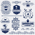 Sea And Nautical Logos And Design Elements. Stock Photo - 94379170