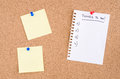 Things To Do List And Yellow Notices On A Pinboard Stock Photography - 94383702