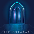 Islamic Design Mosque Door And Window For Eid Mubarak Happy Eid Celebration Background Stock Photography - 94392042