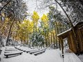 Winter Scenes At South Mountain State Park In North Carolina Royalty Free Stock Images - 94418709