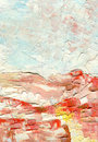 Oil Painting With Large Brush Strokes, Dawn Colors, Shades Of White, Light Blue And Pink, Abstract Landscape Royalty Free Stock Photography - 94443917