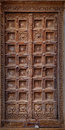 Jaisalmer, India. Old Crooked Wooden Door. Usual Entrance To The Stock Image - 94463081