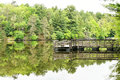 Pier At Mirror Lake State Park In Wisconsin Royalty Free Stock Photography - 94488047