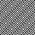 Greek Key Seamless Pattern Background In Black And White. Vintage And Retro Abstract Ornamental Design. Simple Flat Royalty Free Stock Photography - 94496897