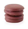 Choco Pie Chocolate Biscuits  On White Stock Image - 94500441