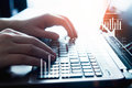 Male Hands On A Laptop Keyboard Royalty Free Stock Photo - 94502455
