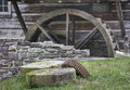Old Millstones And Mill Wheel Stock Images - 94511744
