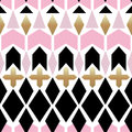 Seamless Ornamental Abstract Pattern On White Royalty Free Stock Images - 94513459