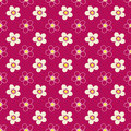 Seamless Floral Kids Bright Pattern On Red Stock Images - 94513554
