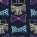 Seamless Pattern With Skerchy Bows Stock Photos - 94516503