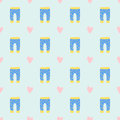 Vector Baby Clothes Seamless Pattern Design Textile Casual Fabric Colorful Dress Child Garment Wear Illustration. Royalty Free Stock Images - 94547889