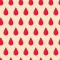 Seamless Pattern With Red Drops Royalty Free Stock Photo - 94554095