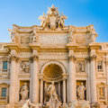 The Famous Trevi Fountain In Rome, Italy In A Sunny Day. Royalty Free Stock Photography - 94575917