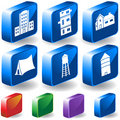 Set Of 3D Building Icons Stock Images - 9462384