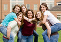 Group Of College Girls Stock Photo - 9465170